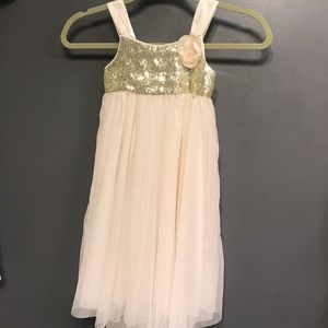 Gorgeous gold and cream girls dress